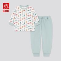 UNIQLO 优衣库 婴儿压线睡衣套装