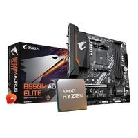 粉丝价:GIGABYTE 技嘉 B550M AORUS ELITE 主板 + AMD 锐龙 Ryzen 7 3700X CPU处理器 散片 套装
