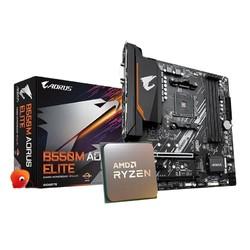 GIGABYTE 技嘉 B550M AORUS ELITE 主板 + AMD 锐龙 Ryzen 7 3700X CPU处理器 散片 套装