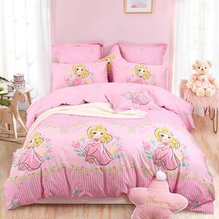 MERCURY 水星家纺 粉嫩甜甜梦 全棉印花儿童卡通三件套 1.2m
