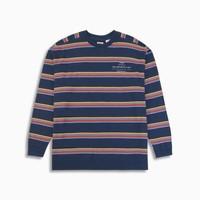 Levi's 李维斯 男士蓝色条纹圆领长袖针织衫