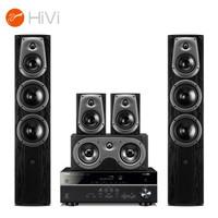 惠威(HiVi)D50HT+雅马哈HTR-3072功放 音响家庭影院组合套装5.0声道hifi家用客厅电视音响木质落地式音箱