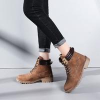 鞋子女短筒马丁靴女保暖厚底靴子女短靴雪地靴女
