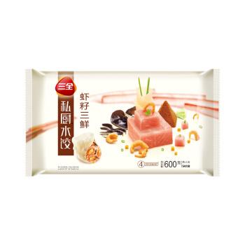 三全 私厨水饺 虾籽三鲜口味 600g *5件