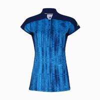 阿迪达斯adidas 女款羽毛球服 速干休闲 运动立领T恤