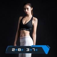 MSGD运动内衣背心女子 中强度瑜伽训练胸衣跑步文胸bra Shadow Black 魅影黑 L *3件