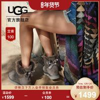 UGG秋冬季女士防泼水防污涂层雪地靴经典贝莉蝴蝶结短靴 1016501