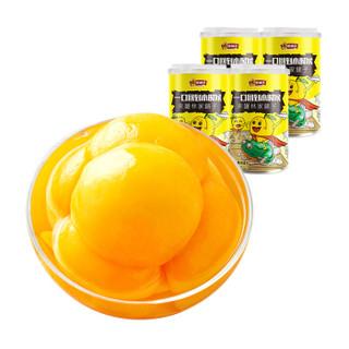 林家铺子 糖水黄桃水果罐头 425g*4罐 *3件
