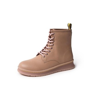 BASTO 百思图 ZIW01DD9 女士软面牛皮革马丁靴