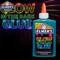 艾默思(Elmer's)水晶泥/史莱姆DIY原料 夜光胶水147ml蓝色 须配魔法液 *2件