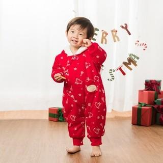 乖奇熊  婴幼儿加绒夹棉保暖连体衣