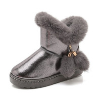 雅澜清 儿童雪地靴