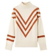 折|羊毛MECITY女装冬季高领提花网红套头毛衣针织衫