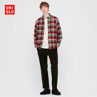 UNIQLO 优衣库 431483 男子法兰绒格子衬衫