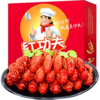京东PLUS会员:红功夫  麻辣小龙虾尾  每盒33-40只* 6盒