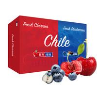 限地区:京觅 智利进口车厘子 蓝莓组合装(车厘子2.5kg JJ级大果 蓝莓6盒装大果 约125g/盒)