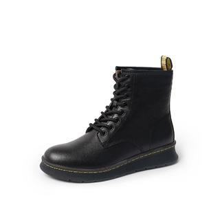 BASTO 百思图  RB7ZIW01DU1DD9 女士软面牛皮革马丁靴