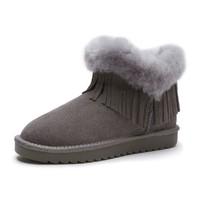 商场同款女士甜美个性流苏保暖时尚雪地靴