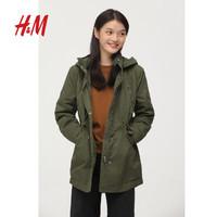 20日0点:H&M 0742561 女士夹棉派克大衣