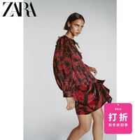 ZARA 08741267065 女装蝴蝶结饰印花裙