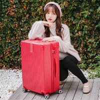 结婚行李箱新娘陪嫁箱红色旅行箱拉杆箱密码女压箱皮箱子婚礼嫁妆