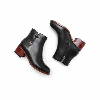 BeLLE 百丽 B76U4N1DDU1DD9 女士牛皮革短靴