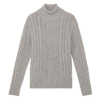 MUJI 无印良品 W7AA874 女式高领毛衣