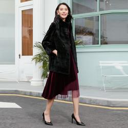 娜尔思2020冬女装貂皮大衣女中长款名媛气质保暖皮草外套