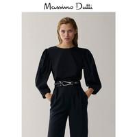 20日0点:Massimo Dutti 06863632800 女装蓬袖府绸休闲T恤