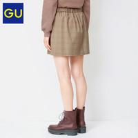 GU 极优 328498 女装格纹迷你裙