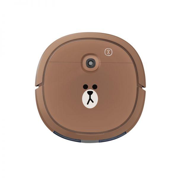 科沃斯(ECOVACS)超薄扫地机器人 U3布朗熊定制扫拖一体机 DK47(棕色)