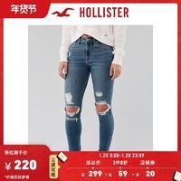 Hollister2020年新品时尚经典弹力高腰紧身牛仔裤 女 304787-1