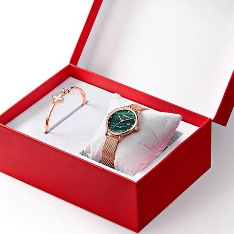 马克华菲手表女十大简约气质小绿表正品名牌女士品牌防水女表