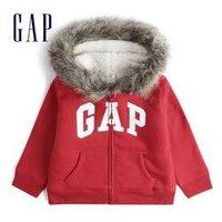 20日0点:Gap 盖璞 女幼童 LOGO仿羊羔绒运动开衫