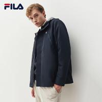 FILA 斐乐官方男运动外套两件套2021春季新款宽松长袖梭织外套男