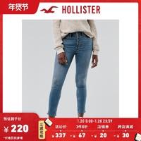 Hollister2020秋季新品气质高腰九分加倍紧身牛仔裤 女 306330-1