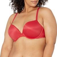 Calvin Klein 女士性感触感聚拢型聚拢文胸,红色,32