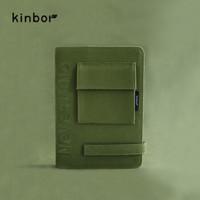京东PLUS会员:kinbor DT51014 A5工装布面刺绣含魔术贴手帐本 大吉大利 *2件