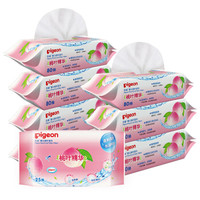 Pigeon 贝亲 桃叶湿巾 PL368 80片*8包   +凑单品