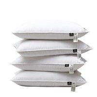 世茂希尔顿 酒店90%鹅绒枕芯对装舒适护颈羽绒纤维枕头