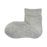 无印良品 MUJI 女式 合脚直角 袜口无橡筋无罗纹 短袜 *3件