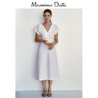 Massimo Dutti  06655312251 女装V领连衣裙
