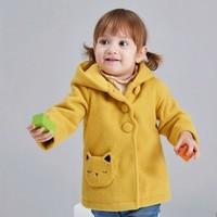 Deesha 笛莎 婴幼童呢大衣连帽外套