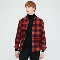 UNIQLO/优衣库 男装 法兰绒格子衬衫(长袖) 431487