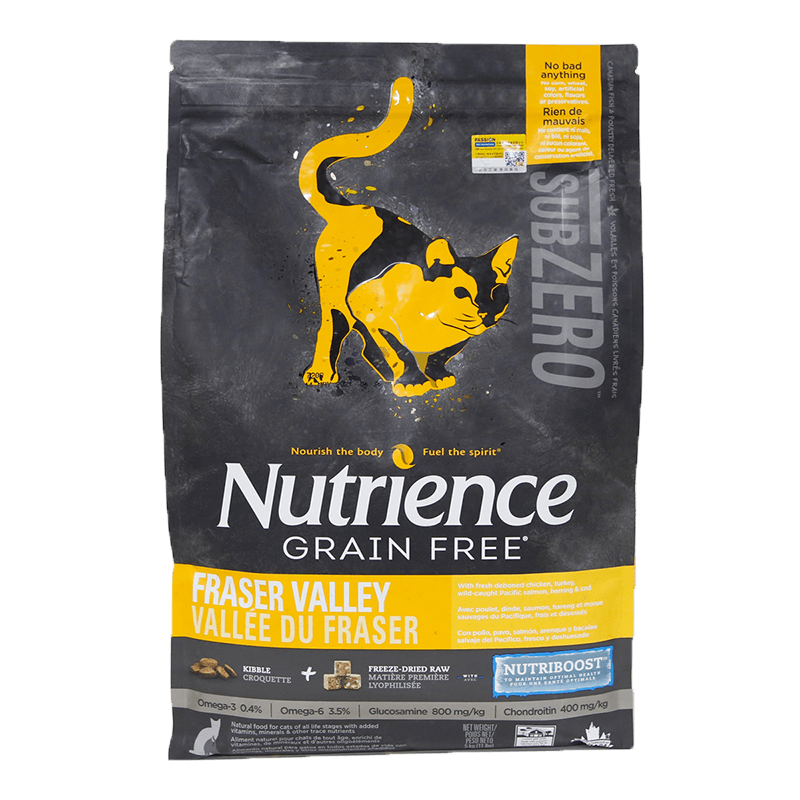 必买年货 :  NUTRIENCE 哈根纽翠斯 黑钻菲沙 河谷鸡肉全猫粮 11磅