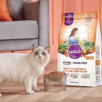 PLUS会员:HALO 自然光环 健美系列 鸡肉成猫粮 10磅