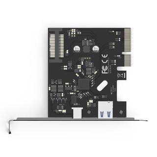 Orico/奥睿科 PA31-AC台式机电脑主板插槽PCI-E转USB3.1 Type-C多口扩展卡USB3.2Gen2X2通道拓展卡转接卡