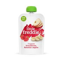 小皮(LittleFreddie)香蕉草莓苹果泥宝宝辅食泥欧洲原装进口婴儿果泥零食(6+月龄适用)100g*1袋 *2件