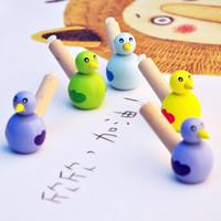 优迭尔 木制玩具哨子水吹鸟 3个装(颜色随机)