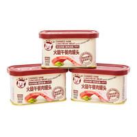 小猪呵呵 火腿网红午餐肉罐头 198g*3罐 *4件